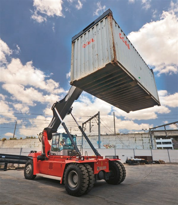 Kalmar Drf100 Reach Stacker Review Trade Plant And