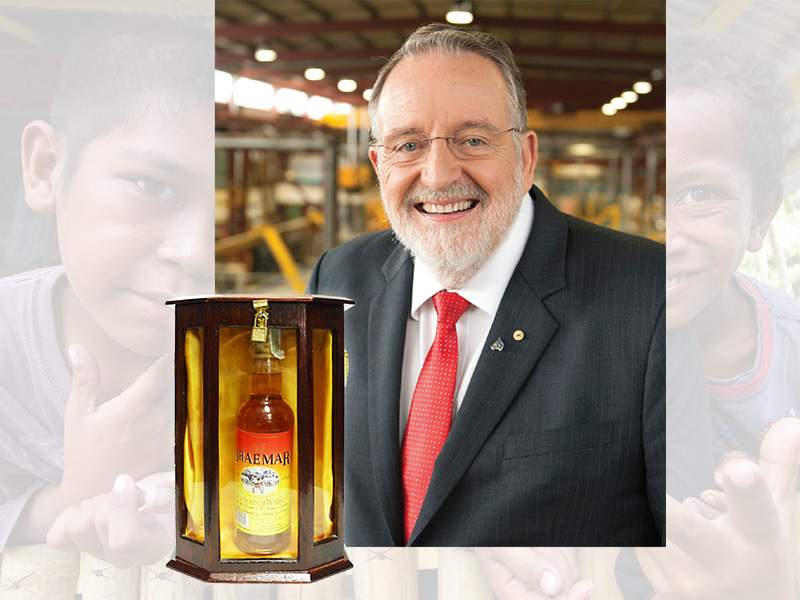 Seeley International executive chairman Frank Seeley and Braemar scotch